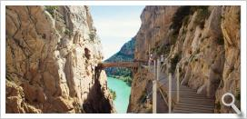 David Cachon rides El Caminito del Rey on a mountain bike