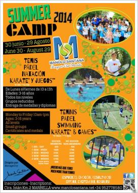 SUMMER CAMP 2014 en Manolo Santana Racquets Club Marbella