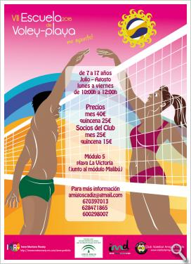 Cartel VII Escuela de Voley playa 2016