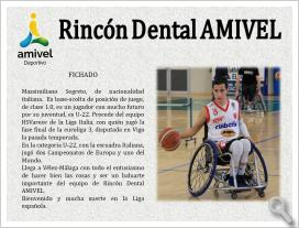 Massimiliano Segreto se incorpora al Rincón Dental AMIVEL